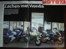 Con mucho gusto cooperamos con la revista de motocicletas Moto 73 para un artículo sobre los motores Honda 600 que fueron fotografiados frente a nuestros espejos de risa.