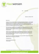Carta de agradecimiento de st. ¡Hair desea a Senna!